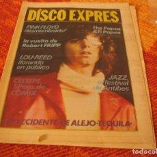 Riviste di musica: DISCO EXPRES Nº 488 TEQUILA PINK FLOYD CEESEPE LOU REED ROBERT FRIPP 1978. Lote 216012742
