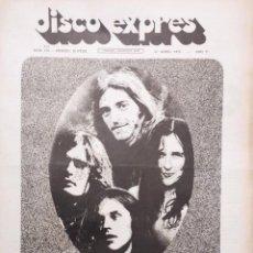 Revistas de música: DISCO EXPRES 168:14-04-72: INCREDIBLE STRING BAND, MIGUEL RIOS, GILBERT MONTAGNE,ARTA, CAMILO SESTO,. Lote 216379817