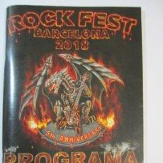 Revistas de música: PROGRAMA ROCK FEST 2018 BARCELONA OZZY ACCEPT JUDAS PRIEST SCORPIONS KISS. Lote 217065092