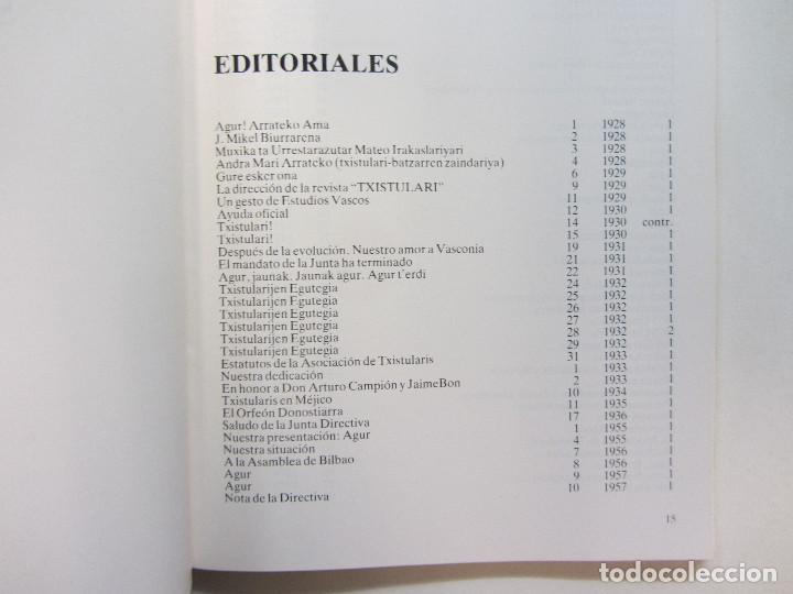 Revistas de música: Lote de 90 revistas Txistulari. Incluye índice. Partituras para Txistu. Años 60-90. 4€ unidad. - Foto 5 - 217089888