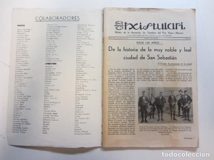 Revistas de música: Lote de 90 revistas Txistulari. Incluye índice. Partituras para Txistu. Años 60-90. 4€ unidad. - Foto 8 - 217089888