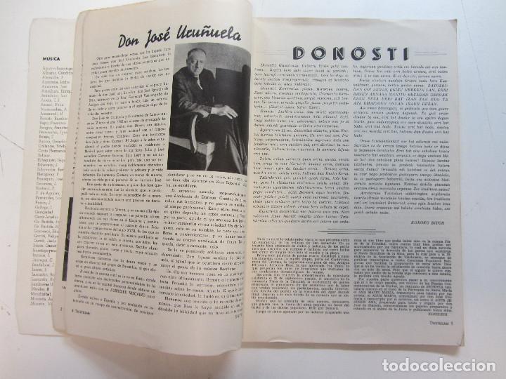 Revistas de música: Lote de 90 revistas Txistulari. Incluye índice. Partituras para Txistu. Años 60-90. 4€ unidad. - Foto 9 - 217089888