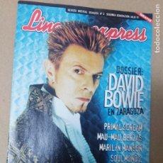 Revistas de música: REVISTA LINACERO EXPRESS 3 DAVID BOWIE +2,50 ENVIO STEVE MARILYN MANSON JULIO 1997. Lote 217706396