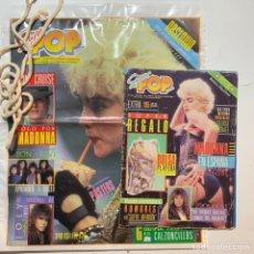 Revistas de música: REVISTA SUPER POP Nº 244 CON SUPER REGALO BOLSA PLAYERA POPERA MADONNA HOMBRES G. Lote 245454245