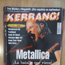 Revistas de música: KERRANG :N.67-METALLICA-MERCYFUL FATE-WASP-EXTREMODURO-UDO-FREDDIE MERCURY. Lote 217826136