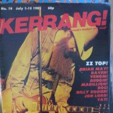 Revistas de música: KERRANG :N.19- ZZ TOP-BRIAN MAY-VENOM-RAVEN-JOHN LORD-JIMI HENDRIX-BILLY SQUIER(INGLESA). Lote 217839413