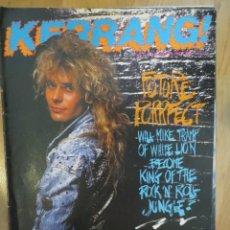 Revistas de música: KERRANG :N.167-WHITE LION-ACE FREHLEY-GYPSY QUEEN-ANTHRAX-DIO-DORO PESCH-HELLION. Lote 217839522