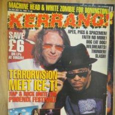Riviste di musica: KERRANG :N.554-TERRORVISION-ICE T-RAMONES-WILDHEARTS-WHITE ZOMBIE-BLACK CROWES. Lote 217942162