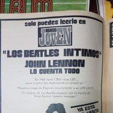 Revistas de música: ANUNCIO LOS BEATLES ÍNTIMOS JOHN LENNON LO CUENTA TODO 1971. Lote 218087875