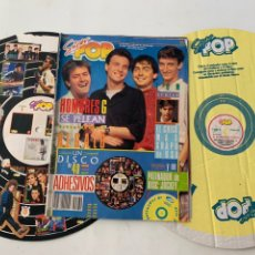 Revistas de música: REVISTA SUPER POP 230 CON DISCO DE 40 ADHESIVOS Y PATINADOR DE DISC JOCKEY. Lote 218105656