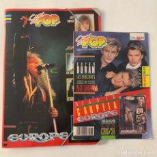 Revistas de música: REVISTAS SUPER POP 235 CON REGALO CARPETA EUROPE. Lote 218106065
