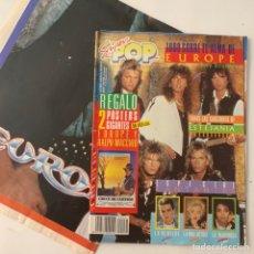 Revistas de música: REVISTA SÚPER POP 231 CON REGALOS DOS PÓSTERS GIGANTES EUROPE Y RALPH MACCHIO. Lote 218109381