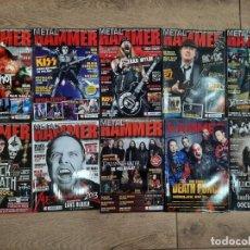 Revistas de música: LOTE 10 REVISTAS METAL HAMMER - NUEVAS A ESTRENAR. Lote 218183816