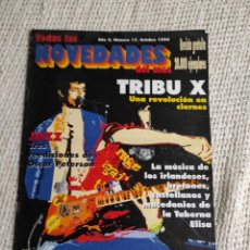 Revistas de música: TODAS LAS NOVEDADES DE EL MES Nº 17 OCTUBRE 1994 - TRIBU X - MUSICA. Lote 218229035