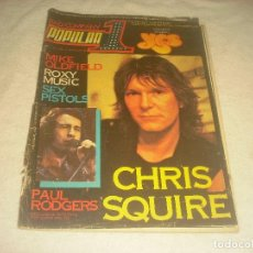 Revistas de música: POPULAR 1 , N. 71 , MAYO 79. CHRIS SQUIRE , SEX PISTOLS , MIKE OLDFIELD.... Lote 218324770