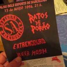 Revistas de música: EXTREMODURO: FLYER CONCIERTO BARCELONA !!!!!! MUY RARO!!!!!!. Lote 218735018