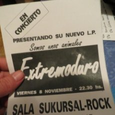 """Revistas de música: EXTREMODURO: FLYER CONCIERTO """"SALA SUKURSAL"""" MADRID 1991 !!!! JOYA DE COLECCIONISTA !!!!. Lote 218735681"""