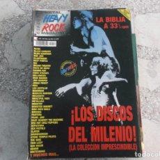 Riviste di musica: HEAVY ROCK MAGAZINE ESPECIAL Nº 52, ANUARIO 2002/3,LOS DISCOS DEL MILENIO, VER INDICE PORTADA. Lote 221096715