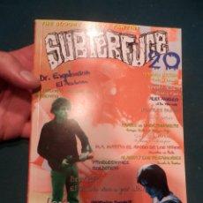 Revistas de música: SUBTERFUGE - FANZINE Nº 20 (DR. EXPLOSIÓN-DOVER-WOODY ALLEN-ALASKA Y LOS PEGAMOIDES-LOS NEGATIVOS..). Lote 221328897