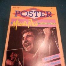 Revistas de música: MIGUEL RIOS - NEW POSTER - SUPER POSTER 65 X 90 CM.. Lote 221329591