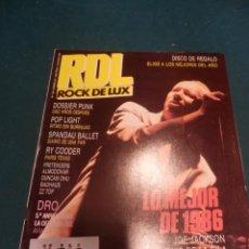 Revistas de música: ROCK DE LUX Nº 26 ENERO 1987 (JOE JACKSON-ÚLTIMO DE LA FILA-DOSSIER PUNK-RY COODER-ZZ TOP-DUNCAN DHU. Lote 221334798