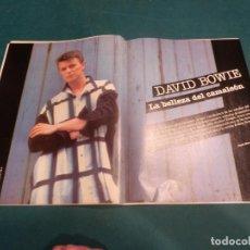 Revistas de música: DAVID BOWIE - LA BELLEZA DEL CAMALEÓN - HOJAS SUELTAS DE UNA REVISTA - VER FOTOS. Lote 221337517