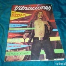Revistas de música: VIBRACIONES Nº 59, AGOSTO 1979. MIGUEL RIOS, LED ZEPPELIN ( SIN POSTER ). Lote 221492408