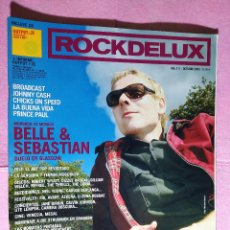 Revistas de música: MAGAZINE ROCKDELUX 211 - BELLE & SEBASTIAN - BROADCAST -JOHNNY CASH -PRINCE PAUL. Lote 221558451