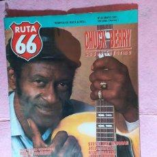 Revistas de música: RUTA 66 Nº 62 - CHUCK BERRY - MOON MARTIN - CHRIS WILSON - ROGER MCGUINN - YOUNG GODS. Lote 221656237