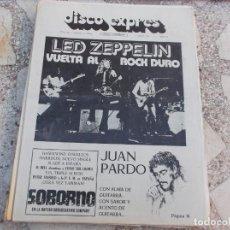 Revistas de música: DISCO EXPRES Nº 226, LED ZEPPELIN, JUAN PARDO, ,1973. Lote 221663102