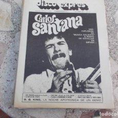 Revistas de música: DISCO EXPRES Nº 252, SANTANA, QUINCY JONES,BB KING, KING CRIMSON, 1973. Lote 221668447