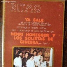 Revistas de música: RITMO Nº 460 DE 1976- HENRI HONEGGER Y LOS SOLISTAS GINEBRA- RODOLFO HALFFTER- FESTIVAL BAYREUTH.... Lote 221701408