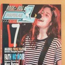 Revistas de música: POPULAR 1 NUM 283 FAITH NO MORE, MIKE PATTON, SUICIDAL TENDENCIES, REDD KROSS BIOHAZARD DIO GWAR. Lote 221707293