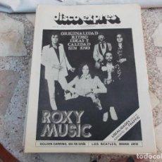 Revistas de música: DISCO EXPRES Nº 265, 1974, CARPENTERS, ROXY MUSIC,. Lote 221897273