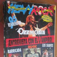 Revistas de música: HEAVY ROCK REVISTA Nº 148 -1995 OZZY OSBOURNE, BARRICADA, AC DC, LOS SUAVES, PARADISE LOST, RAINBOW. Lote 221909843