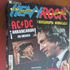 Revistas de música: HEAVY ROCK REVISTA Nº 151 1995- AC/DC, METALLICA, SEPULTURA.. Lote 221910042