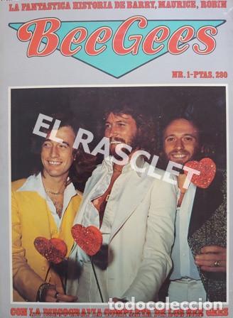 FANTASTICA HISDTORIA - BEEGEES - BARRY, MAURICE, ROBIN - NR-1 - AÑO 1979 - (Música - Revistas, Manuales y Cursos)