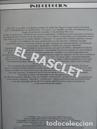 Revistas de música: FANTASTICA HISDTORIA - BEEGEES - BARRY, MAURICE, ROBIN - NR-1 - AÑO 1979 - - Foto 3 - 221915450