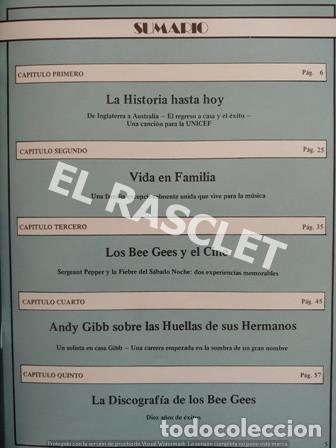 Revistas de música: FANTASTICA HISDTORIA - BEEGEES - BARRY, MAURICE, ROBIN - NR-1 - AÑO 1979 - - Foto 4 - 221915450