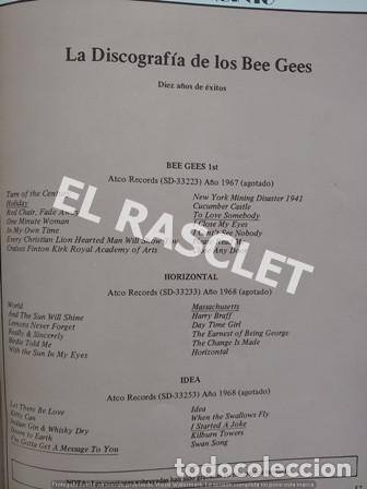 Revistas de música: FANTASTICA HISDTORIA - BEEGEES - BARRY, MAURICE, ROBIN - NR-1 - AÑO 1979 - - Foto 9 - 221915450