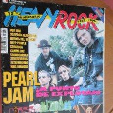 Revistas de música: HEAVY ROCK REVISTA Nº159 PEARL JAM, KISS, METALLICA, IRON MAIDEN, SOUNDGARDEN, BON JOVI. Lote 221932367