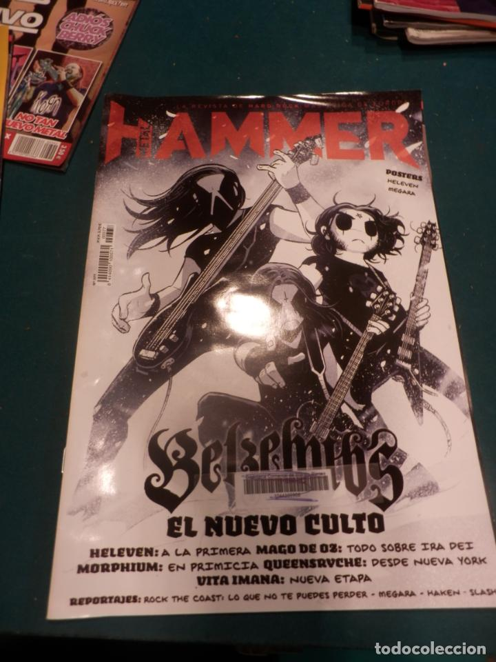 Revistas de música: METAL HAMMER Nº 371 - 372 - 376 - 377 + LA HEAVY Nº 392 - LOTE 5 REVISTAS - Foto 5 - 222051527