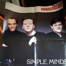 Revistas de música: MARIAH CAREY+SIMPLE MINDS POSTER DESPLEGABLE EL GRAN MUSICAL. Lote 222066040