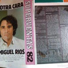 Revistas de música: RECORTES DE PRENSA DE MIGUEL RÍOS 1982-1985. Lote 222075796