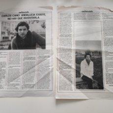 Revistas de música: NT 2 HOJAS 2 PAGINAS MUSICAL EXPRES 1978 CARLOS CANO. Lote 222236811