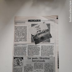 Revistas de música: NT HOJA MUSICAL EXPRES 1978 PUNK MOVIDA NUEVA OLA LOS PUNKS: DIVERTIRSE HORRORIZANDO. Lote 222237443