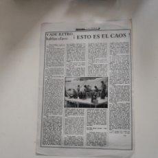 Revistas de música: NT HOJA MUSICAL EXPRES 1977 PUNK MOVIDA NUEVA OLA VADE RETRO ESTO ES EL CAOS JOB JESUS ORDOVAS. Lote 222237528
