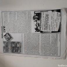 Revistas de música: NT HOJA MUSICAL EXPRES 1977 CRITICA LIBRO HISTORIA DE LA JOVEN PRENSA MUSICAL ESPAÑOLA ANTONIO DE. Lote 222237948