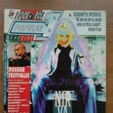 Revistas de música: POPULAR 1 NUM 240. NIRVANA, AEROSMITH, LOLLAPALOOZA, ALASKA, SINIESTRO TOTAL. Lote 222249236