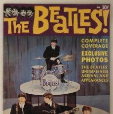 Revistas de música: REVISTA AMERICANA ''THE BEATLES!'' (1964) - PRIMERA VISITA A ESTADOS UNIDOS. Lote 222295128